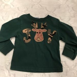 JOY camouflage embroidered deer shirt size 2-4